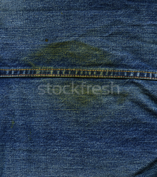 Denim Fabric Texture - with Seam & Stain Stock photo © eldadcarin
