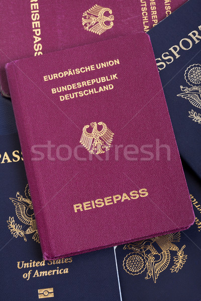German Passport on Passports Stack Stock photo © eldadcarin