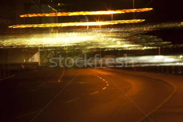 Street Under blurry Lights Stock photo © eldadcarin