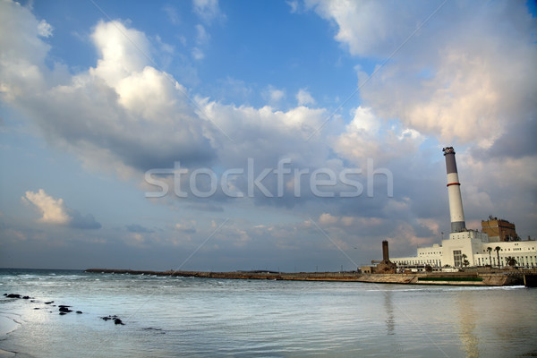 Power Plant by the River Stock photo © eldadcarin
