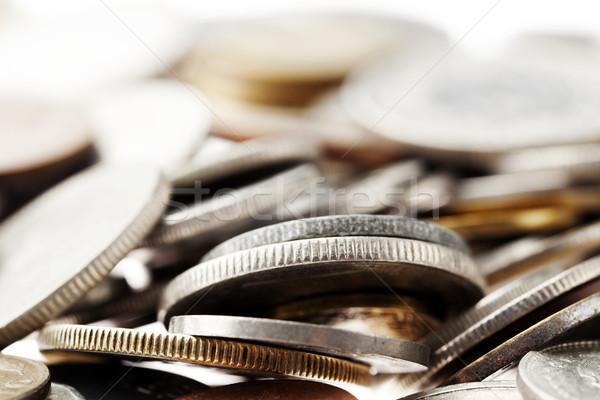 Coins Macro Background Stock photo © eldadcarin
