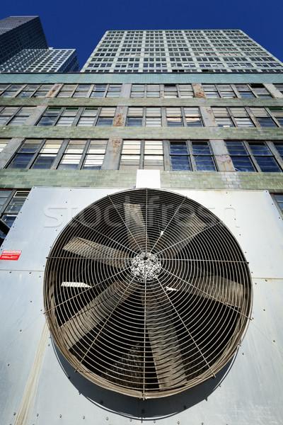 Urban HVAC Air Contidioner Outdoor Unit Manhattan New-York Bleac Stock photo © eldadcarin