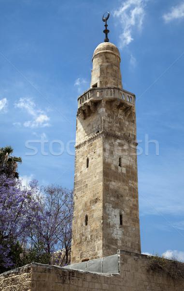 Vieux Jérusalem mosquée musulmans ville bleu Photo stock © eldadcarin