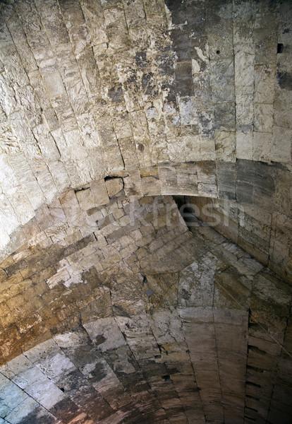 Zdjęcia stock: ściany · tunelu · sufit · starych · miasta · Jerozolima