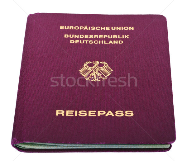 Aislado pasaporte blanco papel águila impresión Foto stock © eldadcarin
