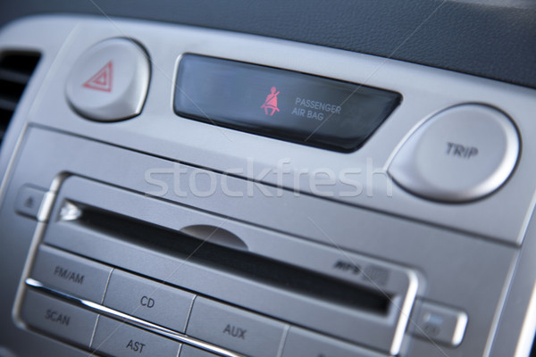 Auto Stereo Sicherheitsgurt Benachrichtigung seicht Bereich Stock foto © eldadcarin
