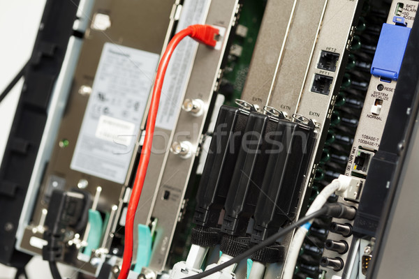 Telephone Switchboard - Private Branch Exchange Stock photo © eldadcarin