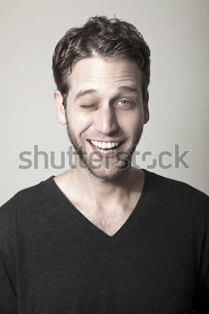 Smiling Handsome Stock photo © eldadcarin