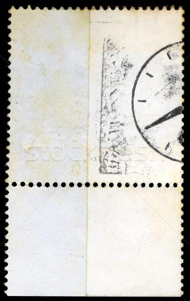 Izolált postabélyeg hát oldal fehér Stock fotó © eldadcarin