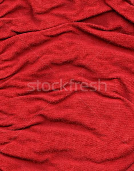 Bawełny tkaniny tekstury czerwony wysoki Zdjęcia stock © eldadcarin