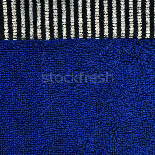 хлопка ткань текстуры синий черный белый Сток-фото © eldadcarin