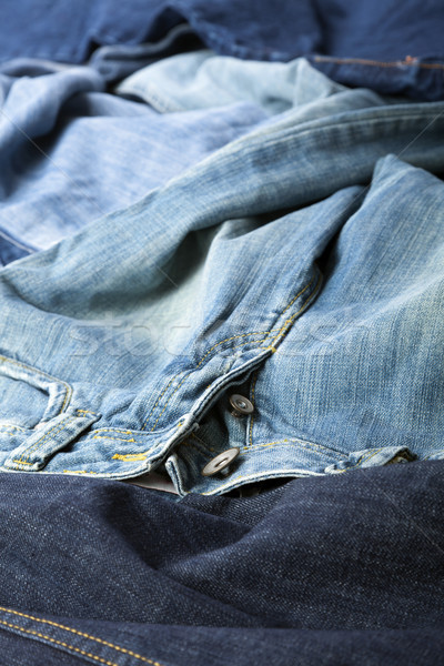 Сток-фото: джинсов · различный · брюки · аннотация · фон · синий