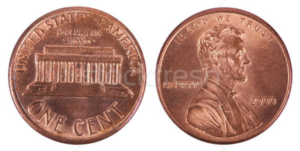 Isolated Penny - Both Sides Frontal Stock photo © eldadcarin