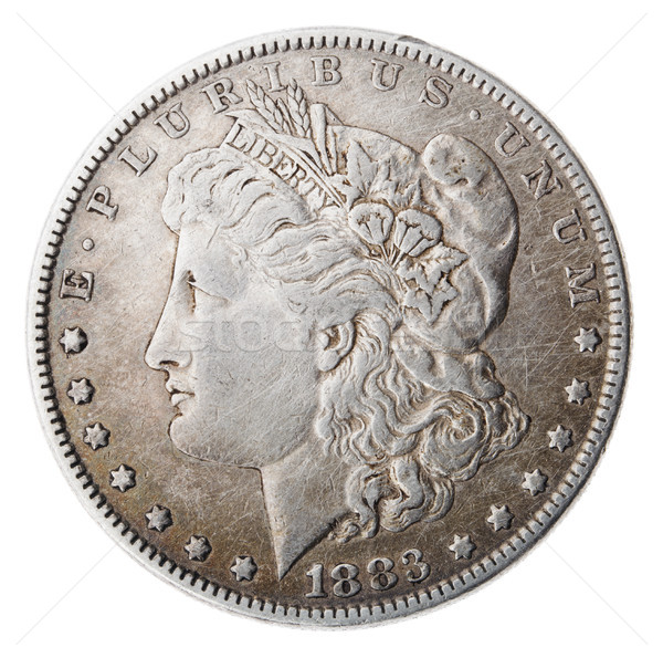 Morgan Dollar - Heads Frontal Stock photo © eldadcarin