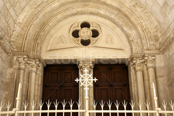 Jerusalem Greek Church Entrance Stock photo © eldadcarin