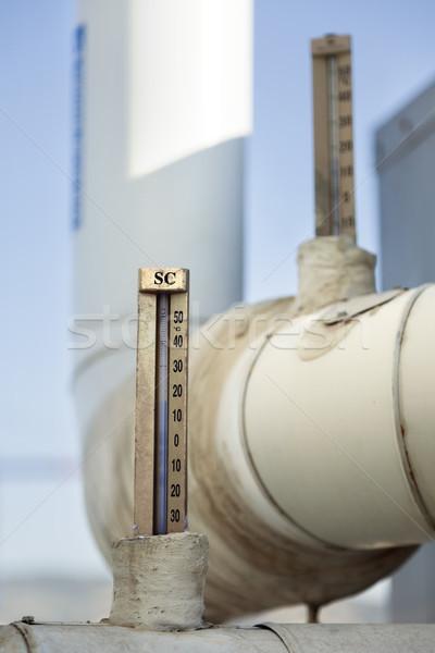 Industrial agua Pareja celsius tuberías comerciales Foto stock © eldadcarin