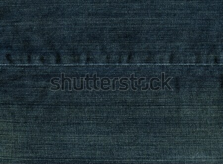 Denim Fabric Texture - Imperial Blue With Seam XXXXL Stock photo © eldadcarin