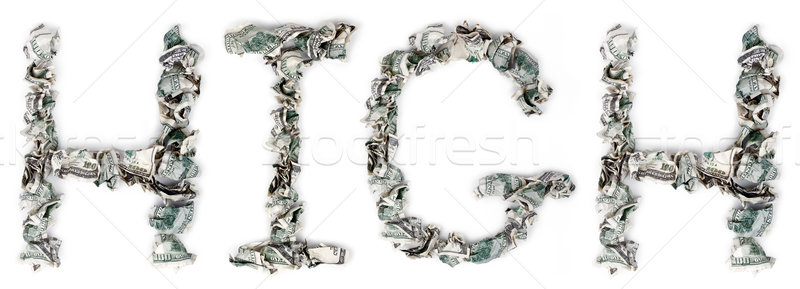 High - Crimped 100$ Bills Stock photo © eldadcarin