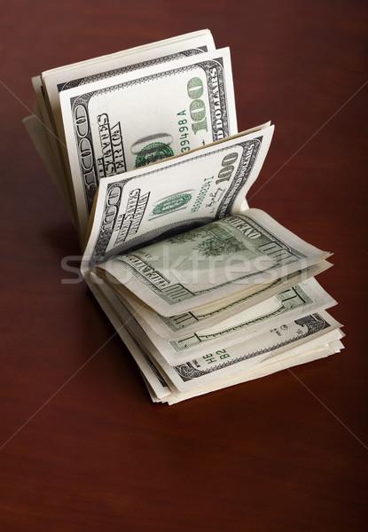 Piegato 100 rosolare soldi Foto d'archivio © eldadcarin