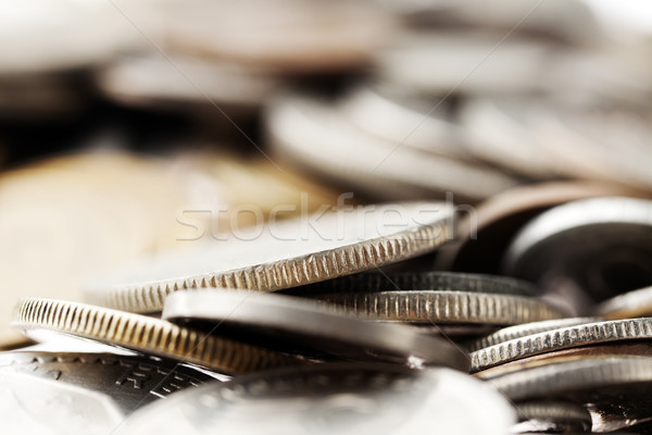 Coins Macro Background Stock photo © eldadcarin