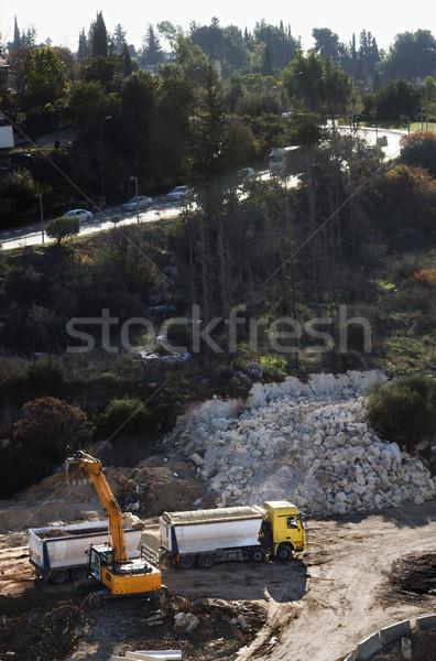 Earthworks in Progress Stock photo © eldadcarin
