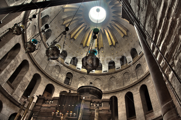 Church of the Holy Sepulchre - Rotunda & Edicule Stock photo © eldadcarin