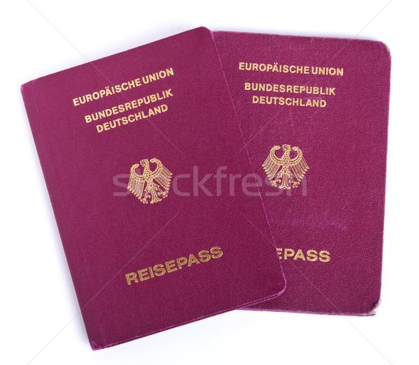 Isolato due passaporto bianco carta aquila Foto d'archivio © eldadcarin