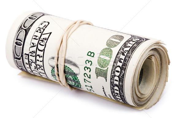 Rotolare 100 americano dollari Foto d'archivio © eldadcarin
