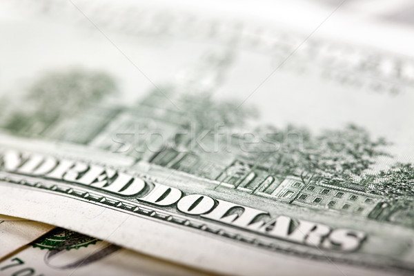 USA Hundred Dollars Bill Macro Stock photo © eldadcarin