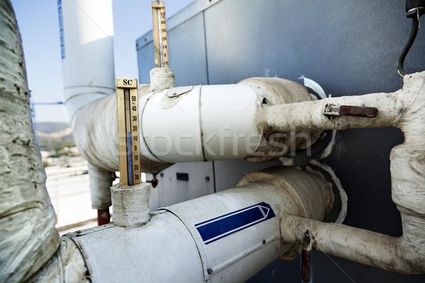 産業 水 計 カップル 摂氏 パイプ ストックフォト © eldadcarin