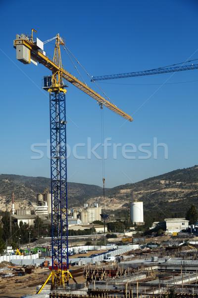 Budowa wzgórza wysoki widoku Zdjęcia stock © eldadcarin