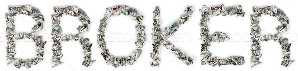 Broker - Crimped 100$ Bills Stock photo © eldadcarin
