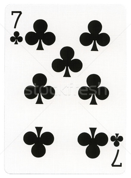 Playing Card - Seven of Clubs Stock photo © eldadcarin