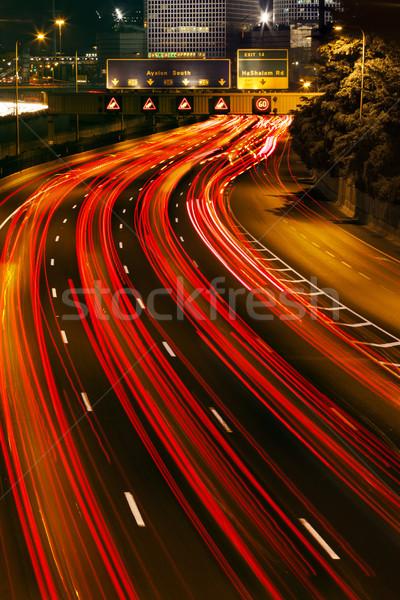 Trafik nehir renkli ışık tüm karayolu Stok fotoğraf © eldadcarin