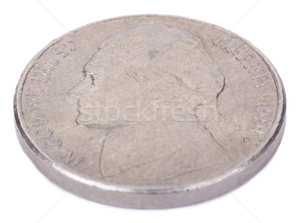 Isolated Nickel - Heads High Angle Stock photo © eldadcarin