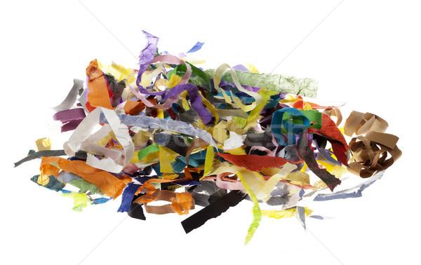 Isolated Paper Strips Pile Stock photo © eldadcarin