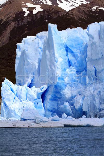 Ghiacciaio montagna acqua lago sud america natura Foto d'archivio © eldadcarin