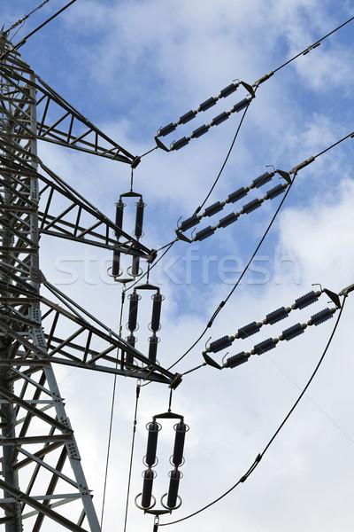 Elektriciteit detail groot zwarte Stockfoto © eldadcarin