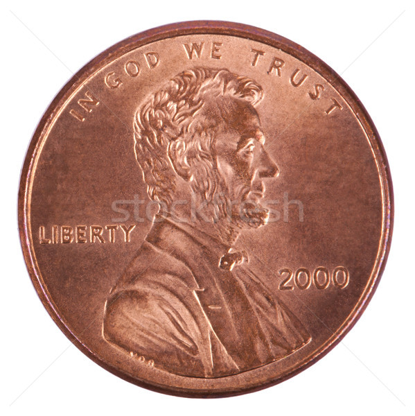 Isolated Penny - Heads Frontal Stock photo © eldadcarin