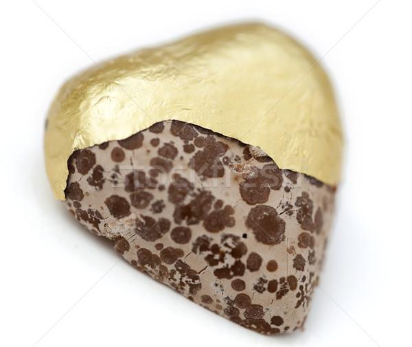 Isolated Heart Shaped Moldy Chocolate Stock photo © eldadcarin