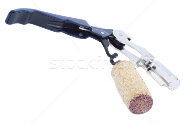Isolated Cork & Opener Stock photo © eldadcarin