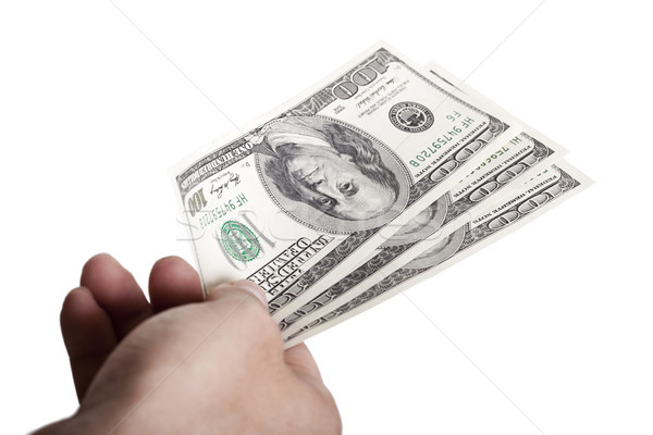 Giving Out Cash Stock photo © eldadcarin