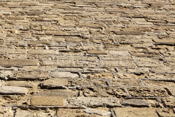 Steen vloer oude bakstenen shot Stockfoto © eldadcarin