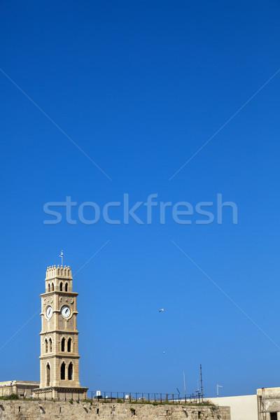 Clock Tower in Acco Stock photo © eldadcarin