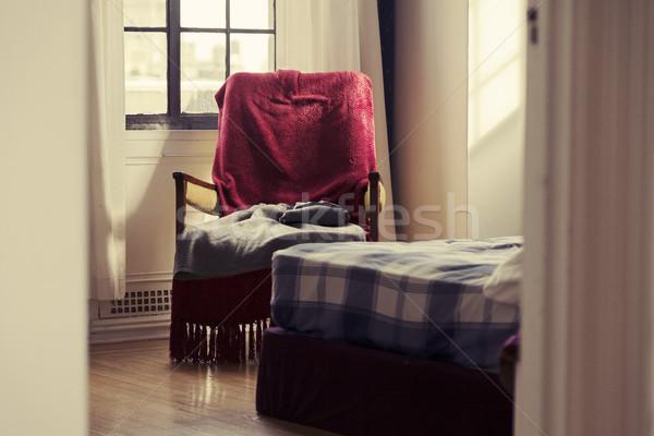 Glimpse into the Bedroom - Vintage Stock photo © eldadcarin