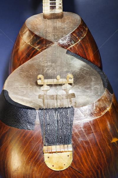 Tar dettaglio macro primo piano ponte musicale Foto d'archivio © eldadcarin