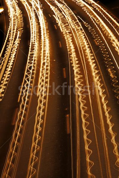 Stockfoto: Verkeer · rivier · licht · alle · snelweg · camera