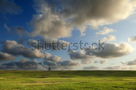 Grassy Hills under Dramatic Sky Stock photo © eldadcarin