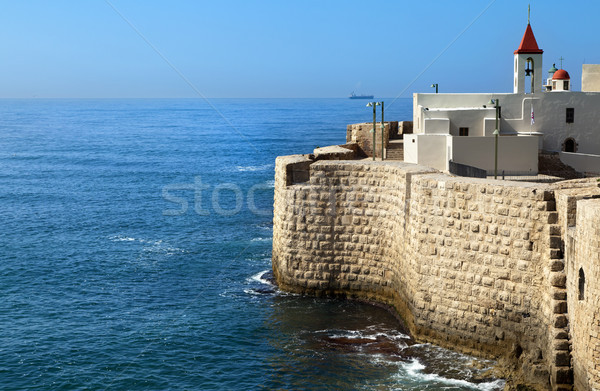 Old Town of Acco by the Sea Stock photo © eldadcarin
