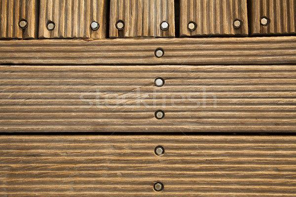 Wooden Deck Frontal Stock photo © eldadcarin